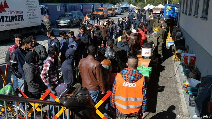 Refugees at the Austria-Germany border