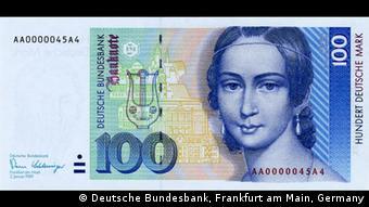 Παλιό χαρτονόμισμα των 100 μάρκων