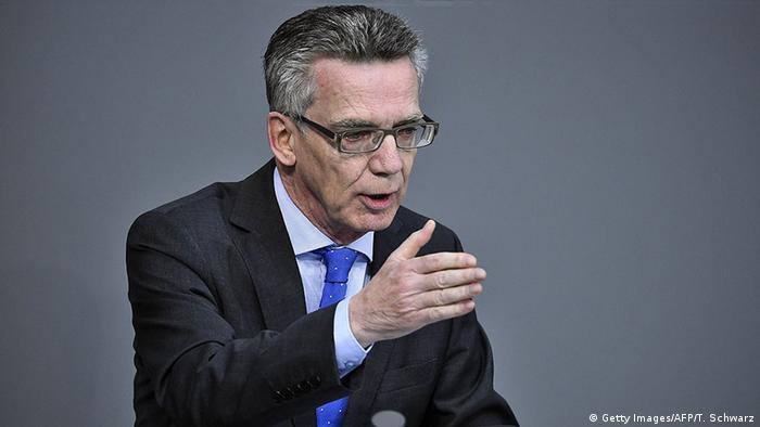 Interior Minister Thomas de Maiziere