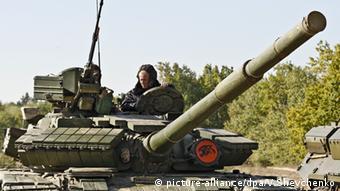 Panzer in der Ukraine (Foto: picture-alliance/dpa/V.Shevchenko)