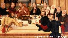 Cranach d.J., Das Abendmahl Ausschnitt