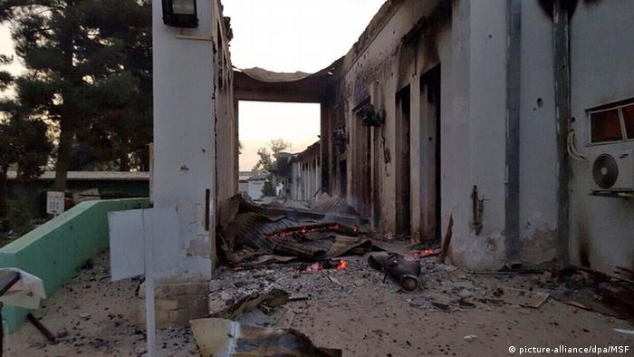 MSF hospital in Kunduz after US airstrikes.