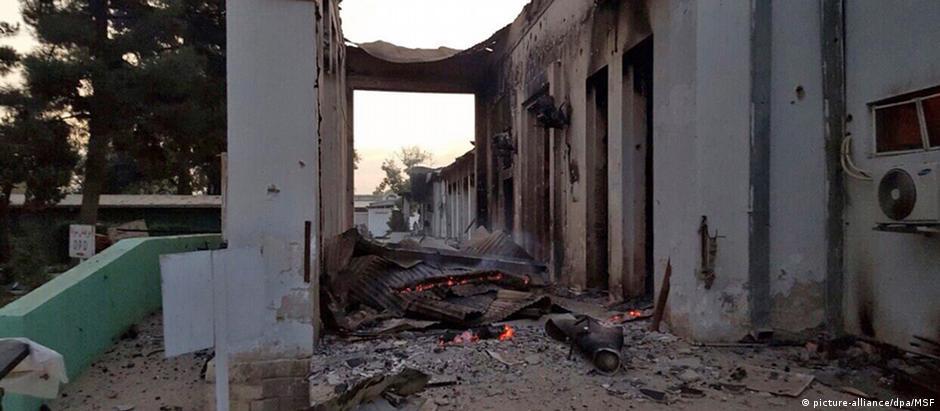 Centro de trauma da MSF foi danificado no ataque aéreo atribuído a americanos