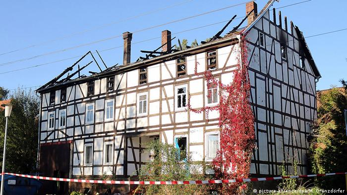 Arson attack on refugee home in Bischhagen, Germany