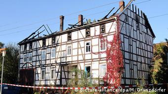 Brandanschlag auf Flüchtlingsheim in Bischhagen