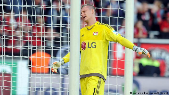 It was definitely a day to forget for Leverkusen keeper Leno