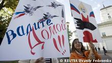 Demonstration in Minsk gegen russische Militärbasis