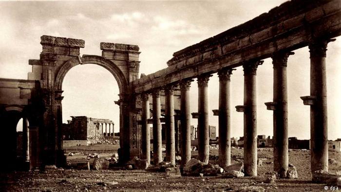 Триумфальная арка в Пальмире до уничтожения