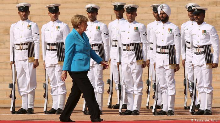 Indien Angela Merkel in New Delhi