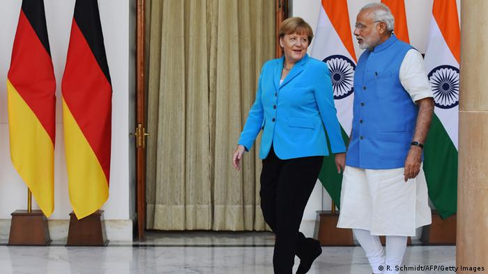 Indien Angela Merkel und Narendra Modi in Neu-Delhi (R. Schmidt/AFP/Getty Images)