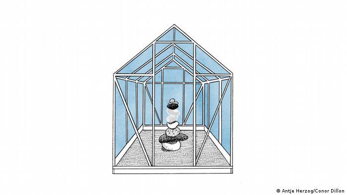 Wer im Glashaus sitzt, soll nicht mit Steinen werfen Illustrationen Kultur DW exclusiv Projekt Sprichwörter