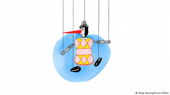 Lügen haben kurze Beine Illustrationen Kultur DW exclusiv Projekt Sprichwörter