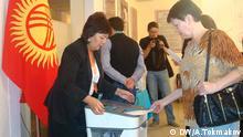 Kisgisien Kyrgyzstan Parlamentswahlen Wahllokal Parlament