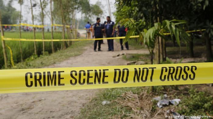 Absperrband am Ort, wo der Japaner Kunio Hoshi in Bangladesch ermordet wurde (Foto: EPA/STRINGER)
