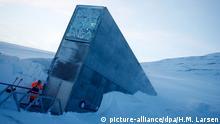 Das Svalbard Global Seed Vault Saatgut Tresor Weltweit Spitzbergen Welttreuhandfond Norwegen