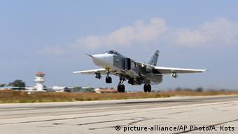Russland Syrien Luftschläge Kampfflugzeug