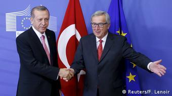 Brüssel Jean-Claude Juncker Treffen mit türkischem Präsidenten Tayyip Erdogan