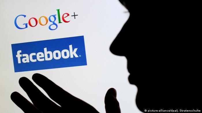 Значки Facebook и Google