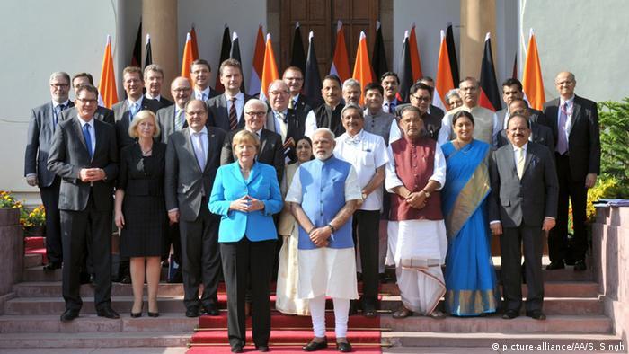 Indien Bundeskanzlerin Angela Merkel und Premierminister Narendra Modi in Neu-Delhi