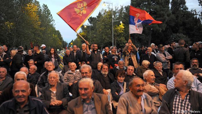 Montenegro Proteste gegen Regierung in Podgorica