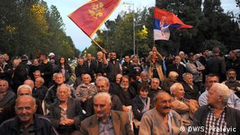 И флаги Сербии среди противников премьера Черногории, фото из архива