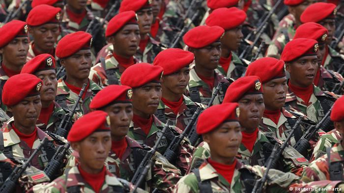 Indonesien Kopassus Elite Armee Einheit