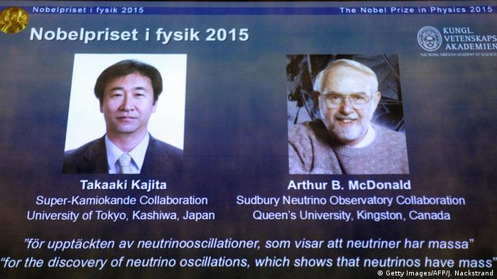Nobelpreis 2015 Physik Takaaki Kajita und Arthur B. McDonald