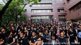 China Studentenproteste in Hongkong