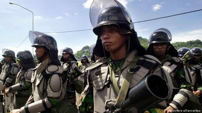 West Papua Indonesische Soldaten