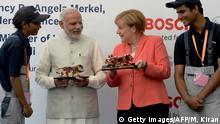 Indien Angela Merkel & Narendra Modi