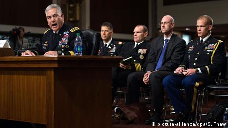 USA, General John Campbell vor dem Senat