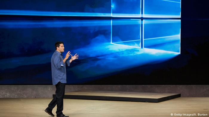 Microsoft's executive vice president speaks at the company's launch event in New York