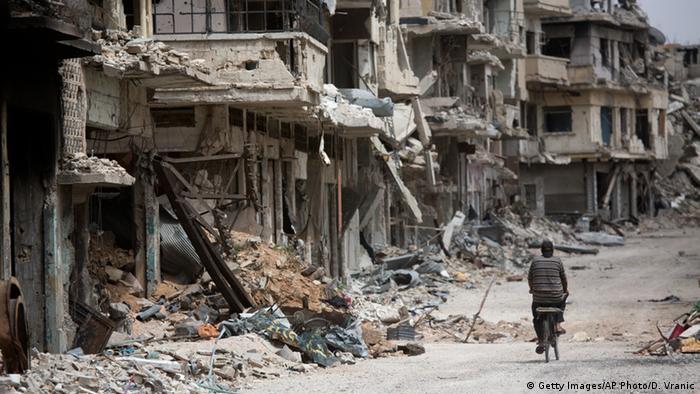نمایی از شهر تخریبشدهی حمس (عکس از آرشیو)