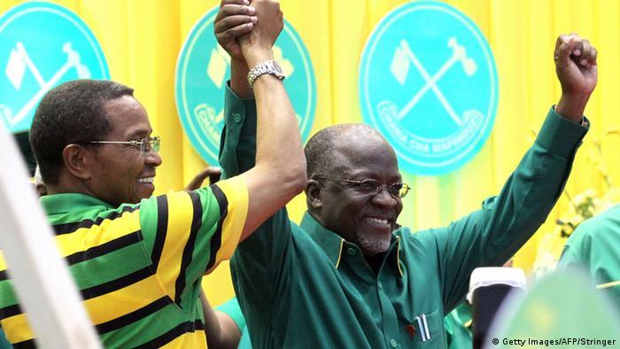 Tansania Wahlen John Pombe Magufuli und Jakaya Kikwete Foto: STRINGER/AFP/Getty Images