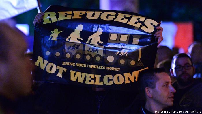 Erfurt - Demonstrationen gegen die Asylpolitik