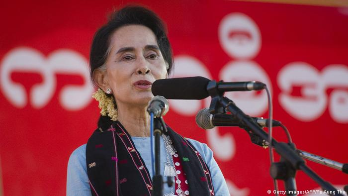 Myanmar Wahlkampf Aung San Suu Kyi (Getty Images/AFP/Ye Aung Thu)