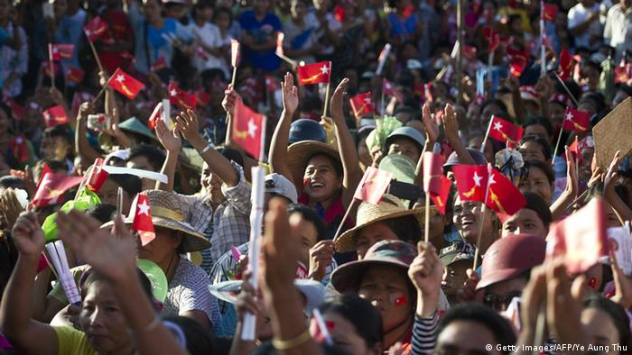 Myanmar Wahlkampf (Getty Images/AFP/Ye Aung Thu)
