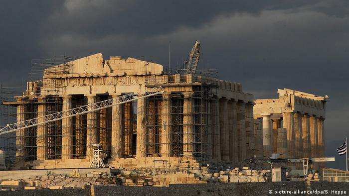 Symbolbild Griechenland Schuldenkrise (picture-alliance/dpa/S. Hoppe)