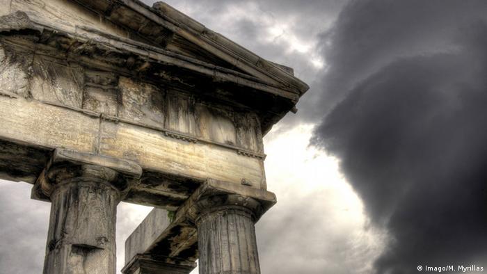 Symbolbild Griechenland Krise Regen (Imago/M. Myrillas)