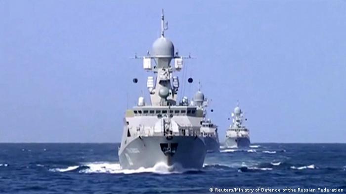 ناو جنگی روسیه در دریای خزر (عکس از آرشیو)