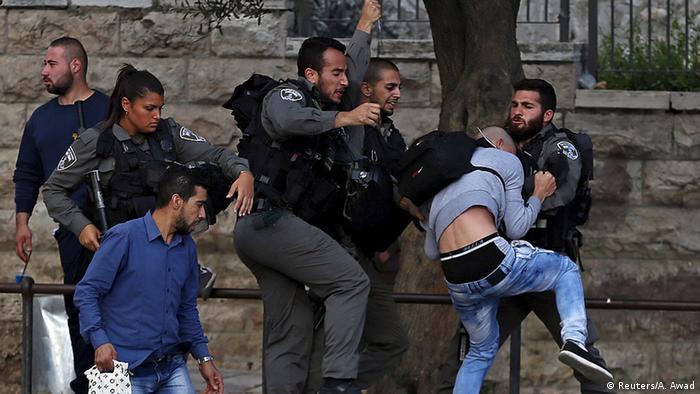 Israel Palästinenser Tempelberg in Jerusalem für Muslime beschränkt