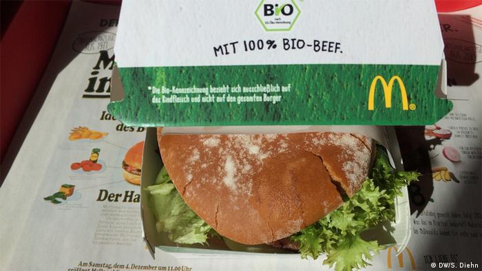 McDonald's alemão lança hambúrguer orgânico