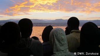 Refugees arrive at an Italian port