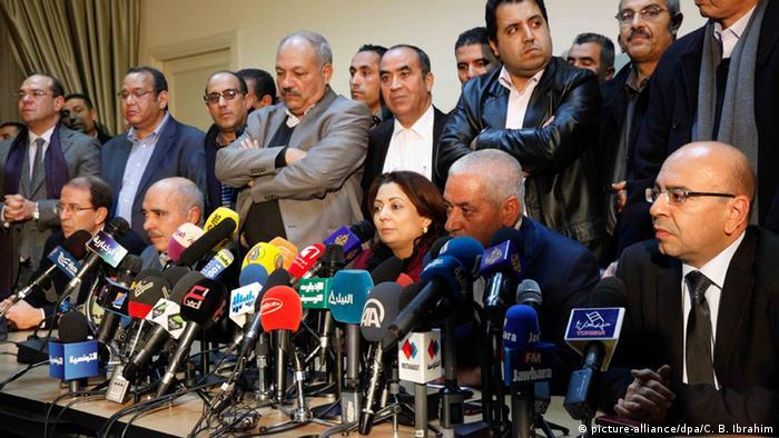 Tunesien Friedensnobelpreisträger das tunesische Quartett für den nationalen Dialog (picture-alliance/dpa/C. B. Ibrahim)