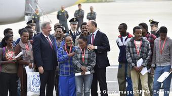 Πρόσφυγες από την Ιταλία μετεγκαθίστανται στη Σουηδία, τον Οκτώβριο του 2015