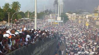 An opposition rally in Conakry