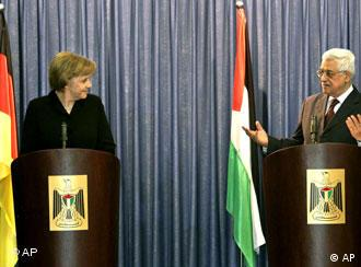 Angela Merkel met with Palestinian leader Mahmoud Abbas