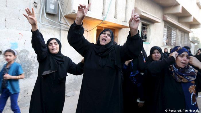 Palästina, Trauer nach Zusammenstoß mit israelischem Militär