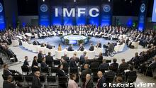 Bank governors and finance ministers pose for a photograph before the start of the International Monetary and Financial Committee (IMFC) meeting during the 2015 IMF/World Bank Annual Meetings in Lima, Peru October 9, 2015.REUTERS/Stephen Jaffe/IMF/Handout via ReutersATTENTION EDITORS - THIS IMAGE WAS PROVIDED BY A THIRD PARTY. REUTERS IS UNABLE TO INDEPENDENTLY VERIFY THE AUTHENTICITY, CONTENT, LOCATION OR DATE OF THIS IMAGE. IT IS DISTRIBUTED EXACTLY AS RECEIVED BY REUTERS, AS A SERVICE TO CLIENTS. FOR EDITORIAL USE ONLY. NOT FOR SALE FOR MARKETING OR ADVERTISING CAMPAIGNS.