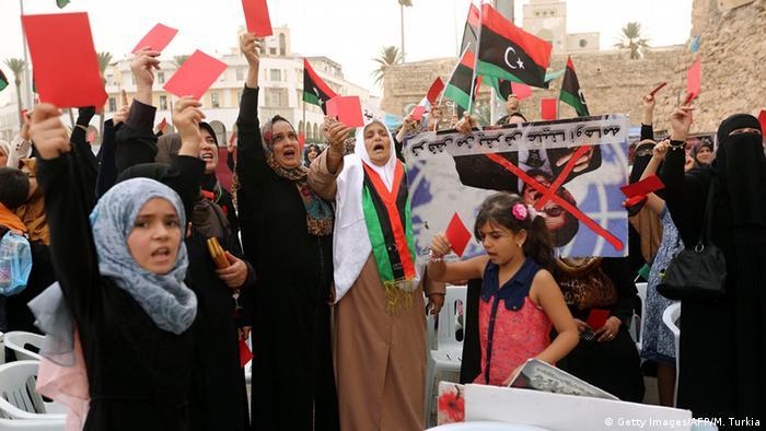 Demonstration in Tripolis gegen eine Einheitsregierung
